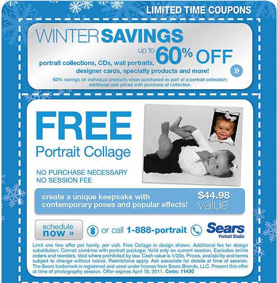 Portrait studio coupons