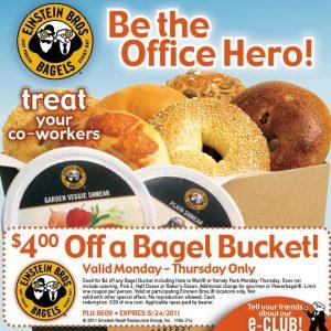 Einstein's coupons bagel bucket