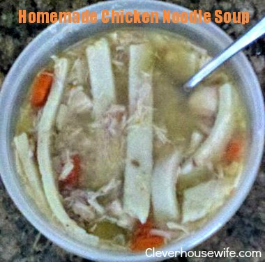Homemade Chicken Noodle Soup On a Budget