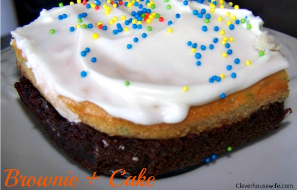 Brownie + Cake Recipe = Heaven!