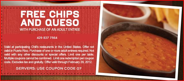 Chili's: Free Chips and Queso with Purchase