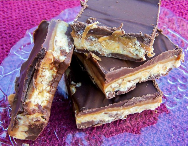 Homemade Snickers - tastes better than the real candy bar!