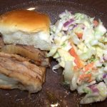 pork slider and apple slaw