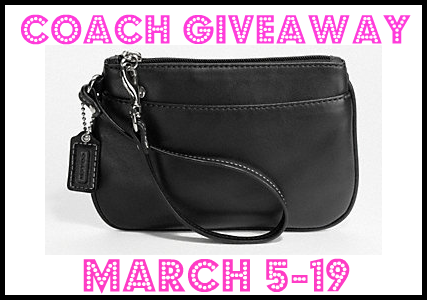 GIVEAWAY: Win a Coach Leather Wristlet!!!