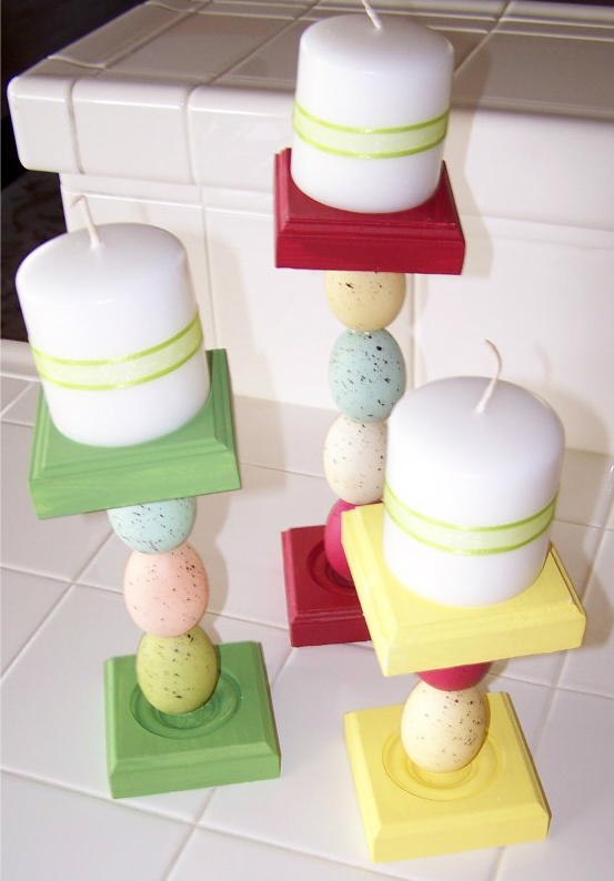 Pinterest Challenge: Easter Candle Holders + Nominate Next Week's Project