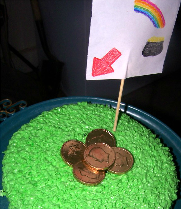 St. Patrick's Day Leprechaun Trap Cake