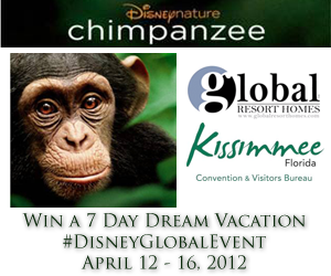 #DisneyGlobalGiveaway 7-Day Dream Vacation for 4, to Kissimmee, Florida