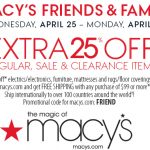 macys friends and family