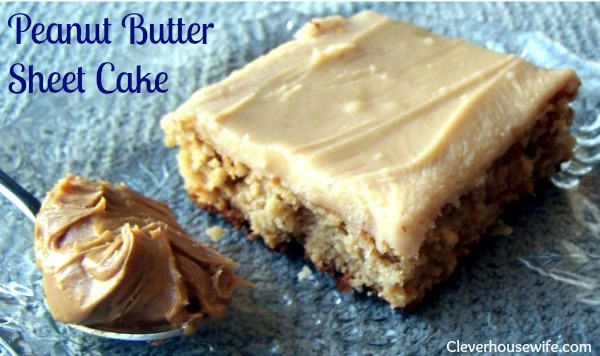 Peanut Butter Sheet Cake Recipe – Oh. So. Yummy.