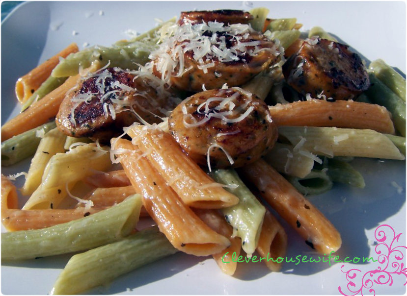Sausage and Pasta in a Browned Butter Sauce