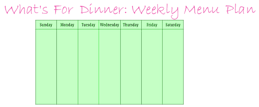 Create Menu Plans Based on Grocery Store Sales
