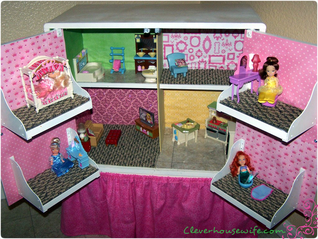 DIY Dollhouse from Repurposed Furniture