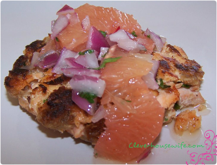 Salmon Cakes with Grapefruit Salsa