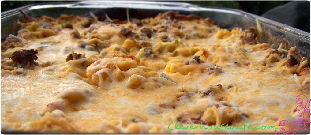 Sausage, Egg and Biscuit Casserole