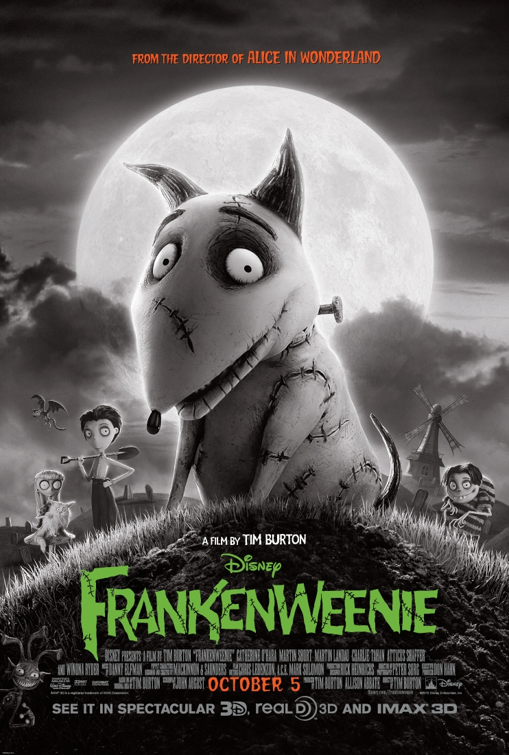 Frankenweenie Trailer: A Tim Burton Stop-Motion Disney Film