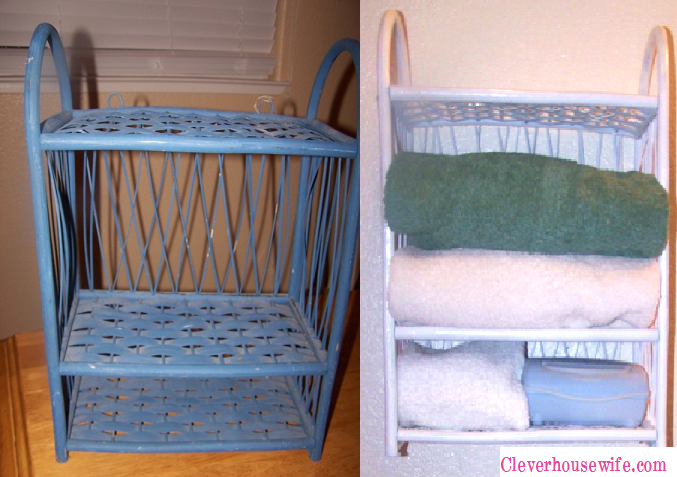 Repurposed Thrift Store Basket