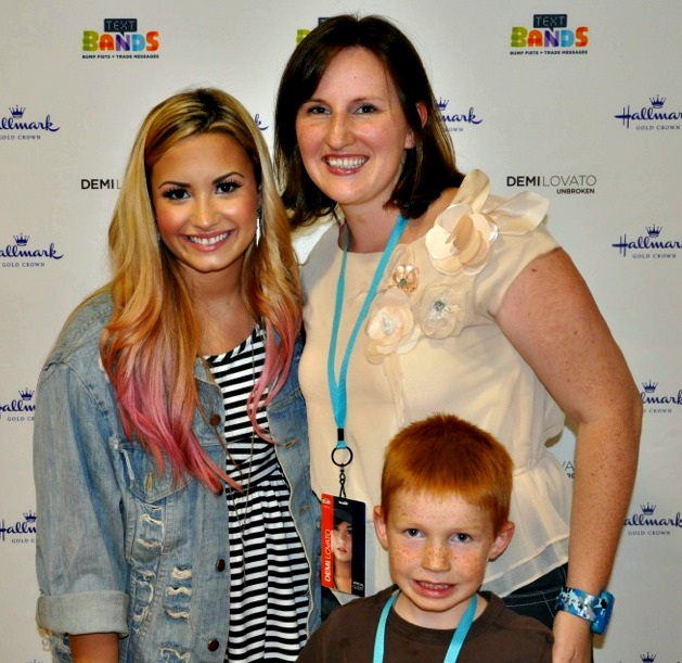 Demi Lovato Concert and Hallmark Text Bands