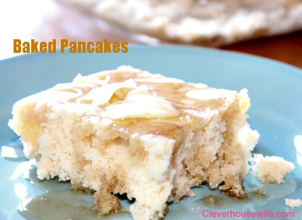 Baked Pancakes Recipe Clever Housewife