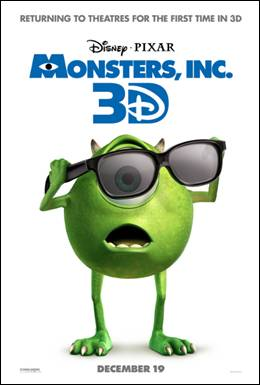 Monsters Inc 3D Trailer