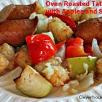 oven roasted tater tots with apples and sausage2