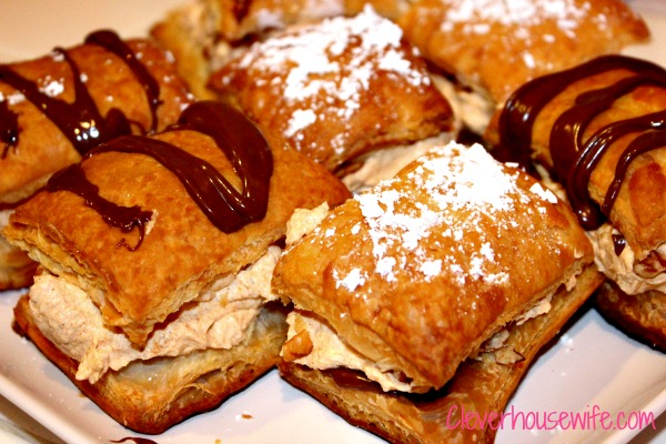 Pumpkin Mousse Napoleons with Nutella - Clever Housewife