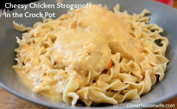Cheesy Chicken Stroganoff Crock Pot Recipe