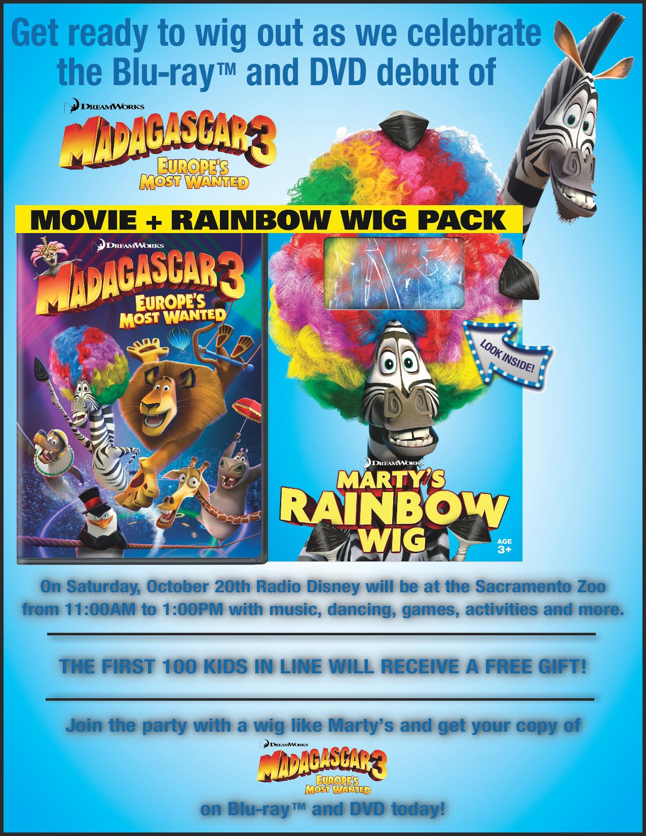Radio Disney at the Sacramento Zoo for DVD Debut of Madagascar 3: Europe's Most Wanted + Giveaway