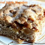caramel apple blondies