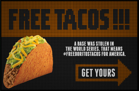 FREE Tacos at Taco Bell Today #FreeDoritosTacos