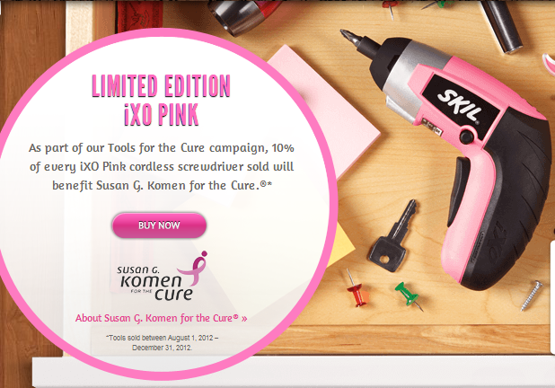 "SKIL iXO Palm-Sized Screwdriver in Pink for ""Tools for the Cure"" – GIVEAWAY"