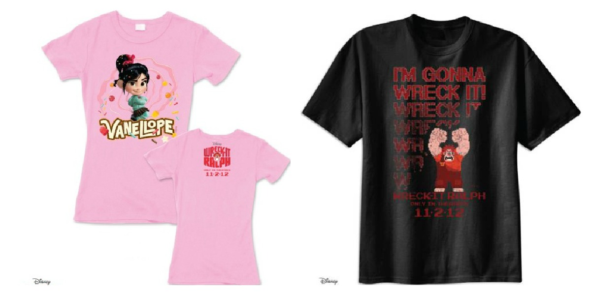 Win a Wreck-It Ralph and Vanellope T-Shirt