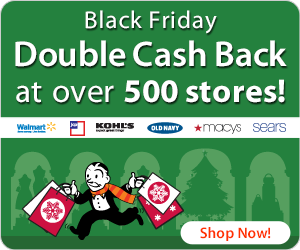 Double Cash Back Deals For Black Friday + $100 Cash Giveaway