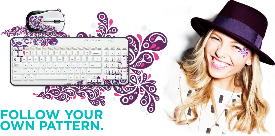 Logitech Global Graffiti Wireless Mouse and Keyboard Giveaway