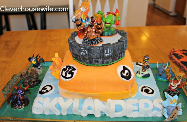 Skylanders Cake For Twins 7th Birthday Clever Housewife