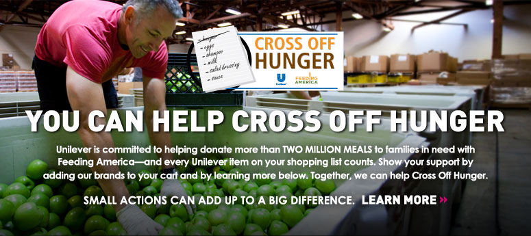 Help Cross Off Hunger With Unilever #BetterTogether