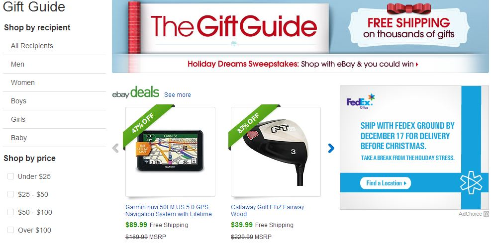 Create Your Holiday Shopping Lists With the eBay Holiday Gift Guide