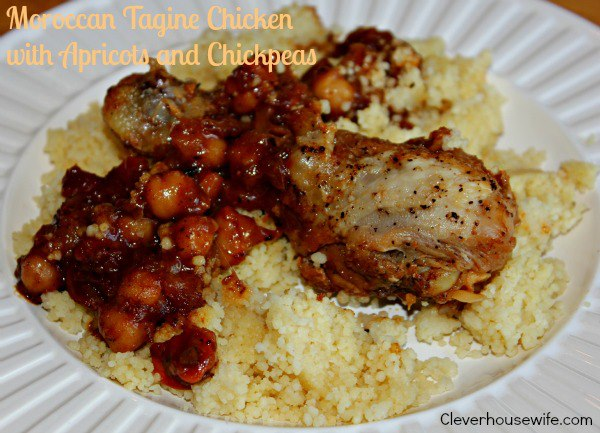 Moroccan Tagine Chicken with Apricots &amp; Chickpeas