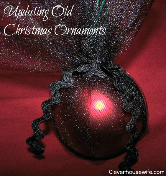 DIY: Cover Old Christmas Ornaments In Fabric