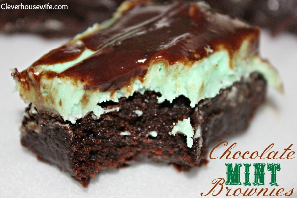 Chocolate Mint Brownies - Clever Housewife