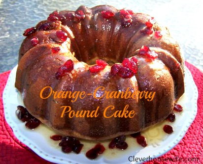 Orange-Cranberry Pound Cake Recipe