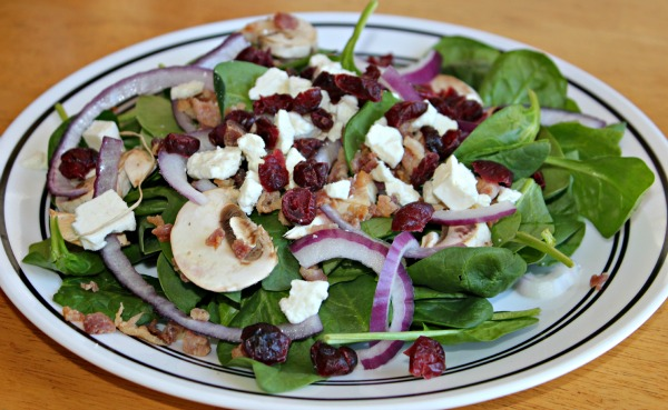 Bacon and Feta Cheese Salad