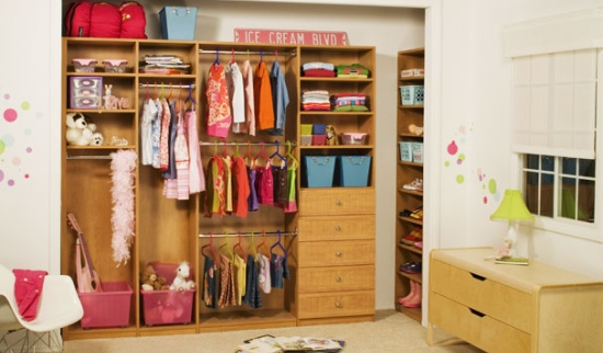 Spring cleaning with adjustable closet organizers for for Childrens closet