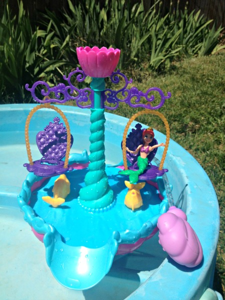 ariel floating fountain