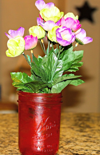 DIY Colored Mason Jars from Elmer's School Glue Naturals