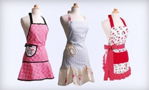 Hot Flirty Aprons Deal: Buy 1 Get 1 50% off + a $30 Voucher for $15!