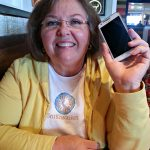 mom and her new cell phone