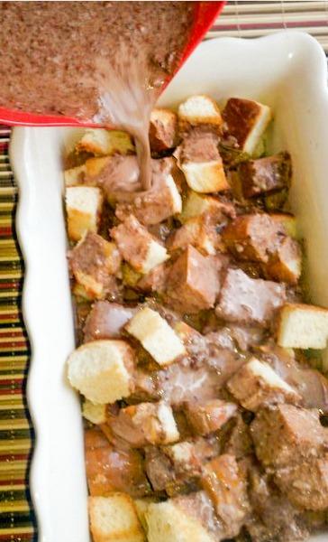 Ancho Chili Chocolate Bread Pudding