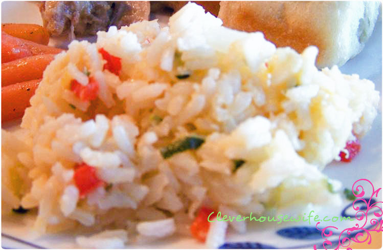 Cheesy Confetti Rice Recipe