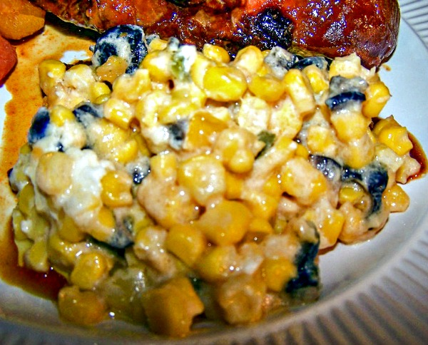 Olive and Hint of Jalapeno Creamed Corn