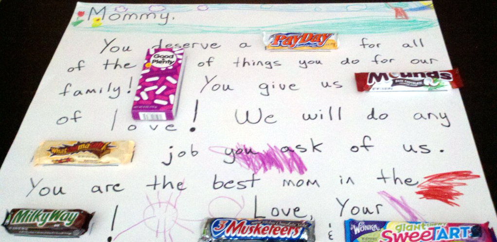 one of the best inexpensive gifts ever candy posters